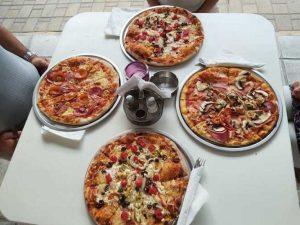 kemenceben sutott pizza, gyros